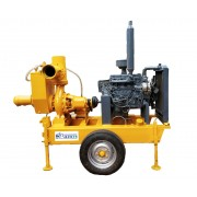 """6"""" Miller type dewatering pump with water cooled engine"""