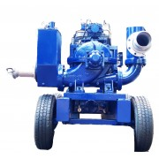 """6""""dewatering pump with split case water cooled engine"""