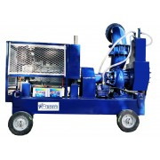 "12"" dewatering pump with kirloskar engine"