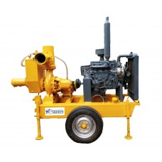 6 inch Miller type dewatering pump with water cooled engine
