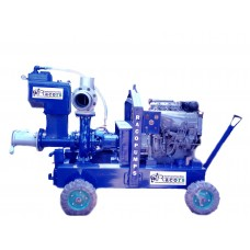 6 inch Sykes type dewatering pump with kirloskar engine
